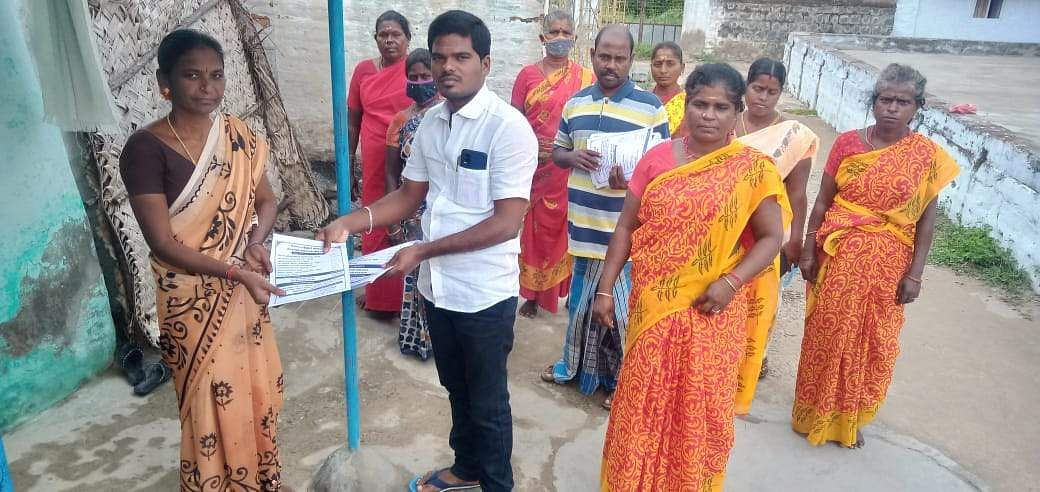 'Let's Create a Corruption-Free Panel': Panchayat President distributed the pamphlet on the budget