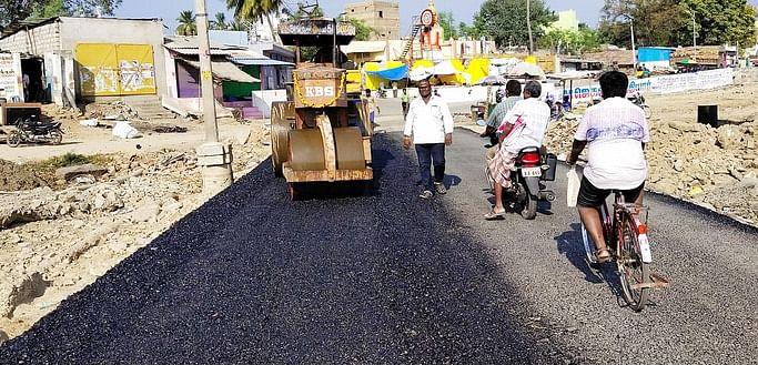 Dinamani News Impact: Work on repairing the Gudiyatham ground bridge has begun