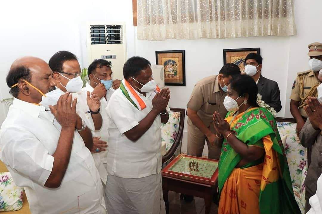 Puducherry Chief Minister Narayanasamy resigns