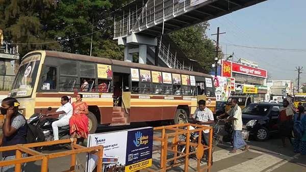 நாமக்கல் மாவட்டத்தில் 90 சதவீத பேருந்துகள் வழக்கம்போல் இயக்கம்