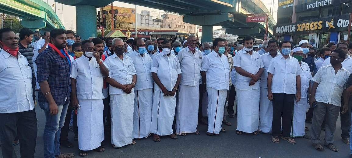 D Pandian's death: All party peace procession in Erode