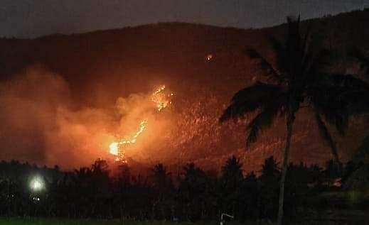 Wildfires in Yelagiri Hills