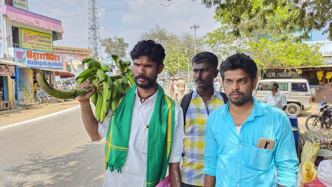 The farmer who came with the bunch of bananas and filed the nomination