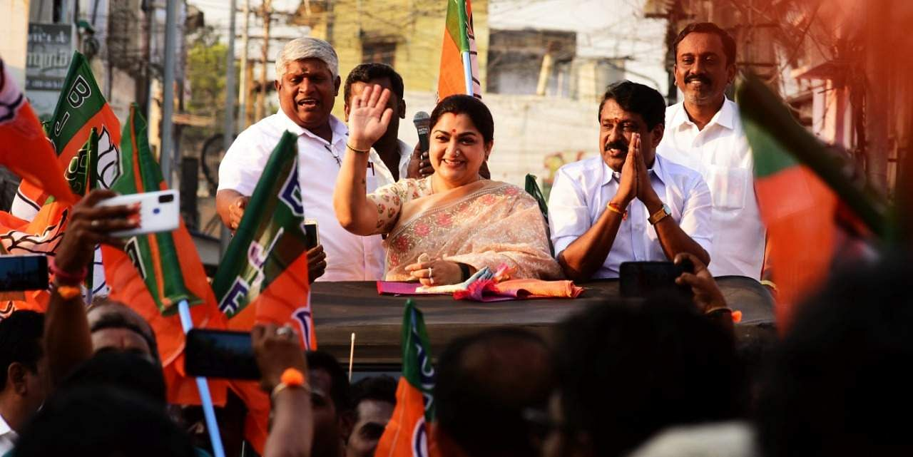 BJP-AIADMK alliance on the verge of victory: Actress Khushbu