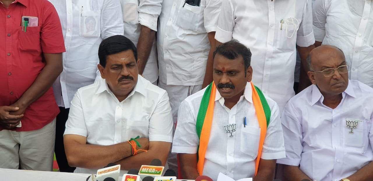 DMK and Stalin should apologize: L. Murugan