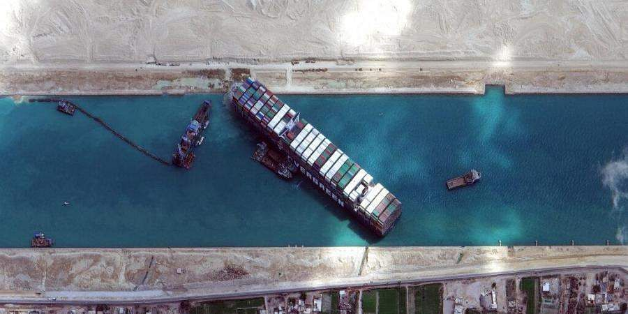 Container ship stuck in Suez Canal partially refloated, says report