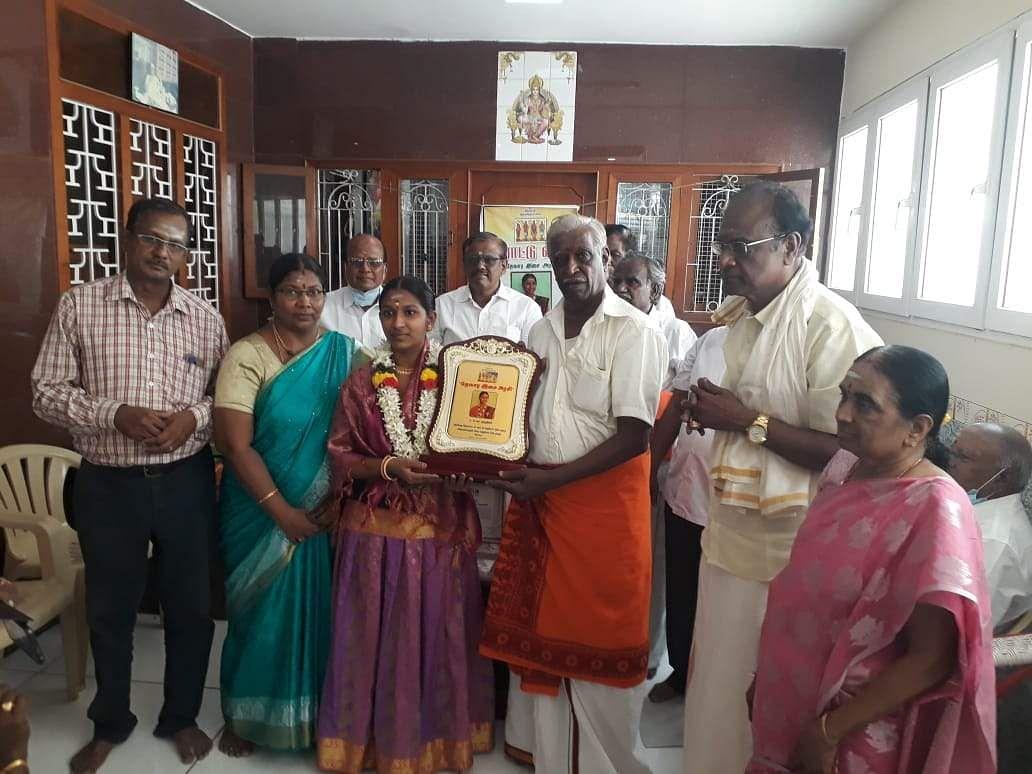 Udumalai student awarded Devara Musical Queen