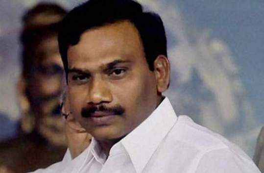A Raja is banned from campaigning for the next 48 hours