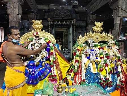 Tirukkalyanam at Paramakudi Eeswaran Temple