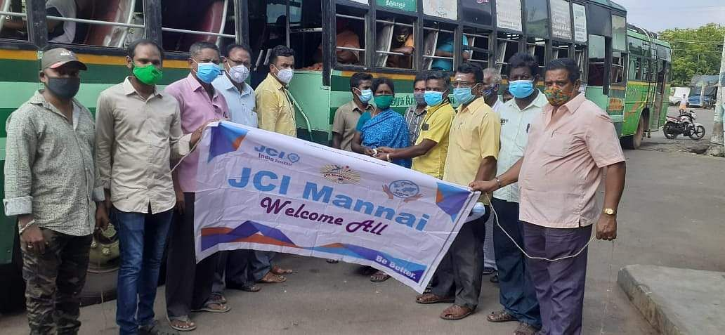 Mannargudi: Free tickets for those wearing mask on the bus