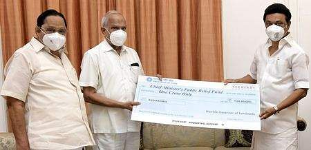 The governor provided Rs 1 crore from the Corona Relief Options Fund