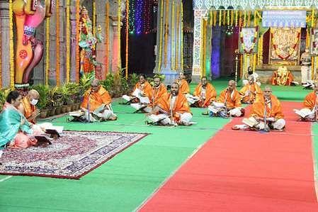 திருமலையில் 2-ஆம் நாள் நடைபெற்ற ஷோடசதின சுந்தரகாண்ட பாராயணம்.