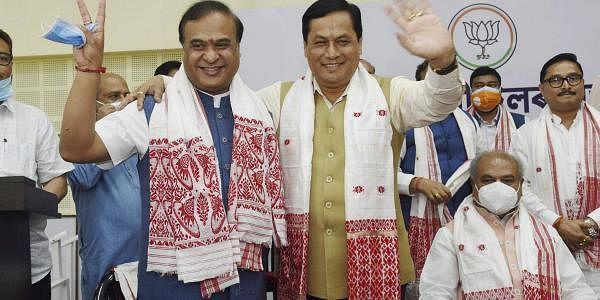 Former_Assam_CM_and_New_Assam_CM_PTI05_09_2021_000058A