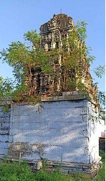 சிதிலமடைந்த அழகுராய பெருமாள் திருக்கோயில்.