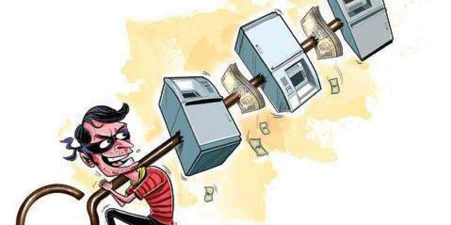 Policeman injured during ATM robbery attempt in UP's Bareilly .